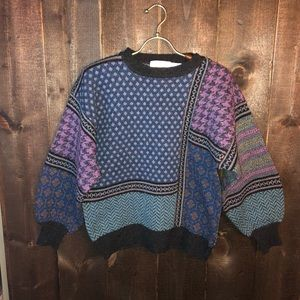 Shirts - Vintage Wool Colorful Sweater Biggie Smalls